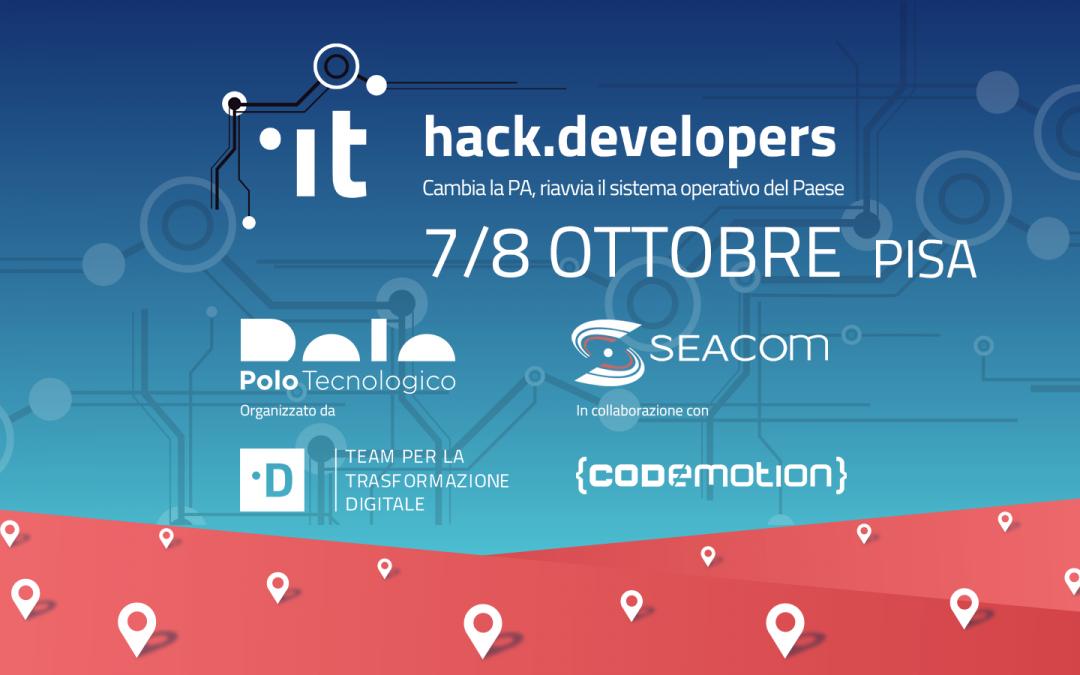 Seacom e Polo Tecnologico ospitano HACK.Developers 2017!