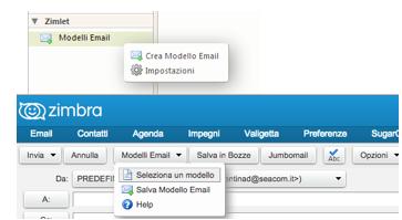 Email Template zimlet da Seacom
