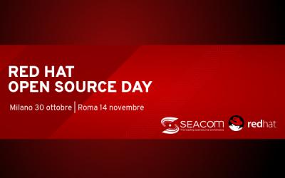 Seacom @RedHat OSD 2018: due tappe per promuovere nuovi approcci nel panorama dei Big Data