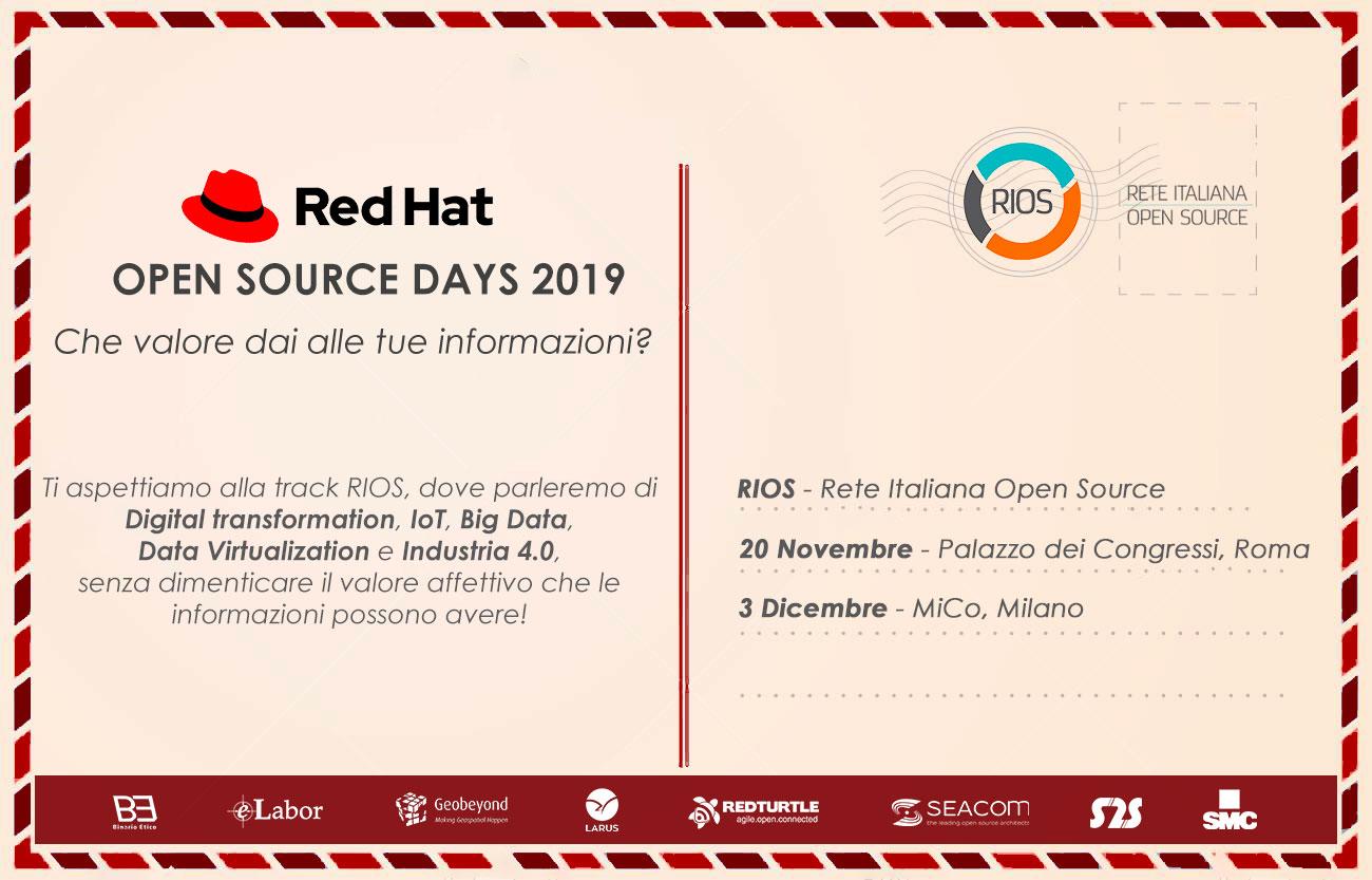Seacom a Red Hat OSD 2019: due tappe per dare valore ai tuoi dati